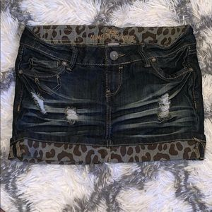 Almost Famous Jean Mini Skirt